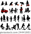 toddlers and kids silhouettes 24441601