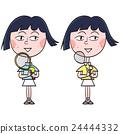 tennis, badminton, female 24444332
