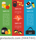 Fitness and a healthy lifestyle banners set 24447441