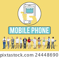 Mobile Phone Cellphone Cellular Communicate Concept 24448690