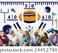 American Football Team Field Yard Pumped Sports Concept 24452790