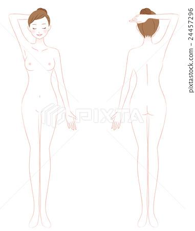 女性全身裸體美女 24457296