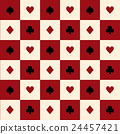 Card Suits Red Beige Chess Board Background 24457421