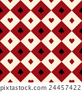 Card Suit Red Beige Chess Board Diamond Background 24457422