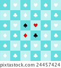 Card Suits Blue Aqua Green Chess Board Background 24457424