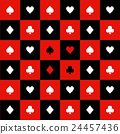 Card Suits Red Black White Chess Board Background 24457436