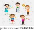 kids playing different musical instruments 24460484