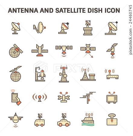 Satellite Dish Icon 24460745