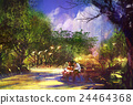 couple in beautiful place,illustration painting 24464368