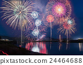 Ise shrine dedicated venue nationwide fireworks display Miyagawa fireworks comparative light synthesis 24464688
