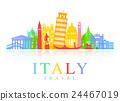 Italy Travel Landmarks Vector 24467019