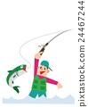 fishing, vector, fisherman 24467244