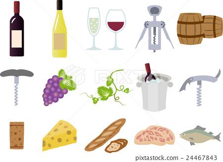 图标 葡萄酒 红酒 24467843