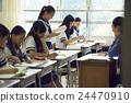 学校课堂风景初中学生形象 24470910