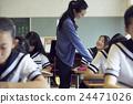 学校课堂风景初中学生形象 24471026