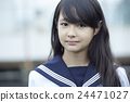 portrait, portraits, junior high school student 24471027