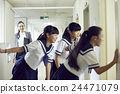 teacher, after class, corridors 24471079
