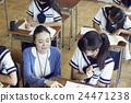 学校课堂风景初中学生形象 24471238