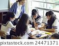 学校课堂风景初中学生形象 24471371
