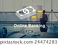 Online Banking Money Transaction System Concept 24474283
