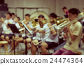 Abstract blurred photo of classic music band when rehearsal, musical concept, seminar meeting concept 24474364