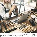 Carpenter Craftsman Handicraft Ocpcupation Skill Concept 24477499