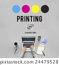 Printing Process Offset Ink Color Industry Media Concept 24479528