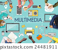 Multimedia Communication Connection Technology Devices Concept 24481911