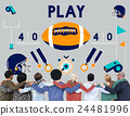 Play Quarterback Rugby American Football Concept 24481996