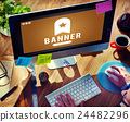 Banner Bookmark Content Web Online Management Concept 24482296
