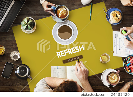 Coffee Break Drink Free Time Concept 24483420