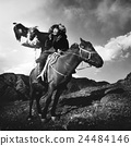 Mongolian Man with Trained Eagle Concept 24484146