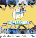 Mobile Phone Cellphone Cellular Communicate Concept 24488267