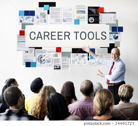 Stock Photo: Career Tools Recruiting Profession Concept