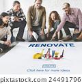 Renovate Renew Creativity Instrument Work Concept 24491796