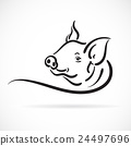 Vector of a pig logo on white background. 24497696