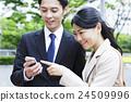 業務會議智能手機smaho會議商人女性人 24509996