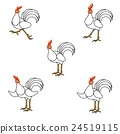 Chicken illustration set 24519115