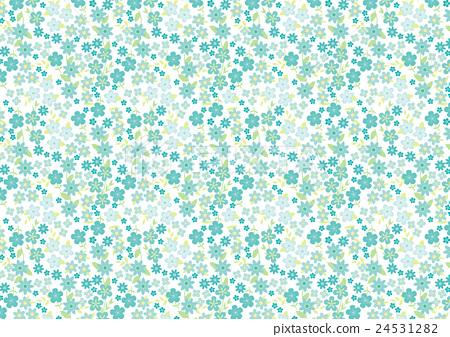 Small flower pattern (background white light blue) 24531282