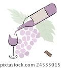 Wine <Illustration of alcohol> 24535015