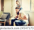 Family Father Daughter Love Parenting Piggyback Togetherness Concept 24547173