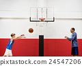 Basketball Player Athlete Exercise Sport Stadium Concept 24547206