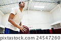 Basketball Player Sport Gaming Tactics Concept 24547260