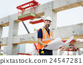 Construction Worker Planning Constractor Developer Concept 24547281