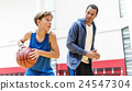 Coach Team Athlete Basketball Bounce Sport Concept 24547304