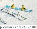 滑雪板 雪景 冬季運動 24552300