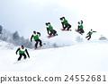 跳 滑雪板 雪景 24552681