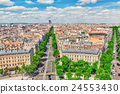 Beautiful panoramic view of Paris  24553430