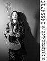 electric, guitar, woman 24554730