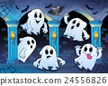 Ghosts in haunted castle theme 2 24556826